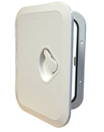 MARINE ACCESS BOAT DECK INSPECTION HATCH  270mm x 375mm WHITE motorhome yacht
